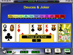 VIDEOPOKER A 1 MANO